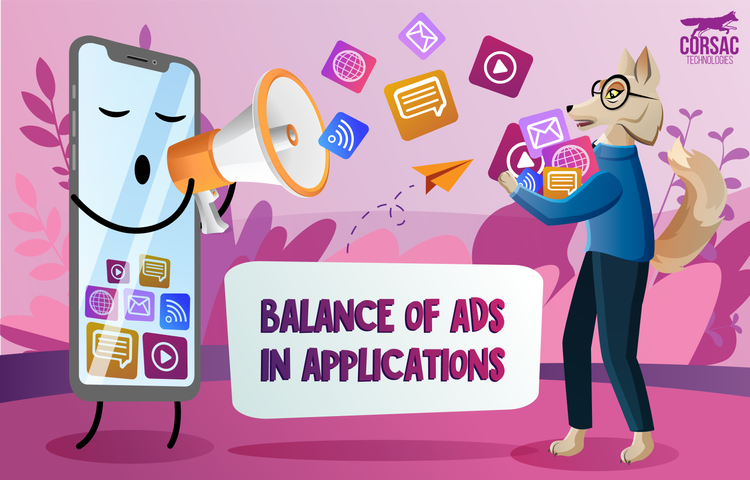 Balance of ads in applications